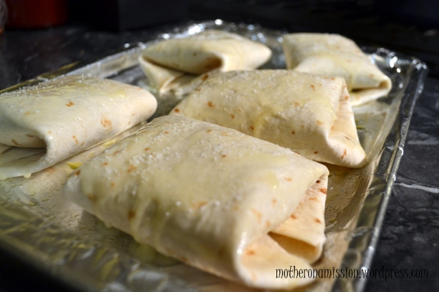 Mother on a Mission: Oven-fried Chimichangas