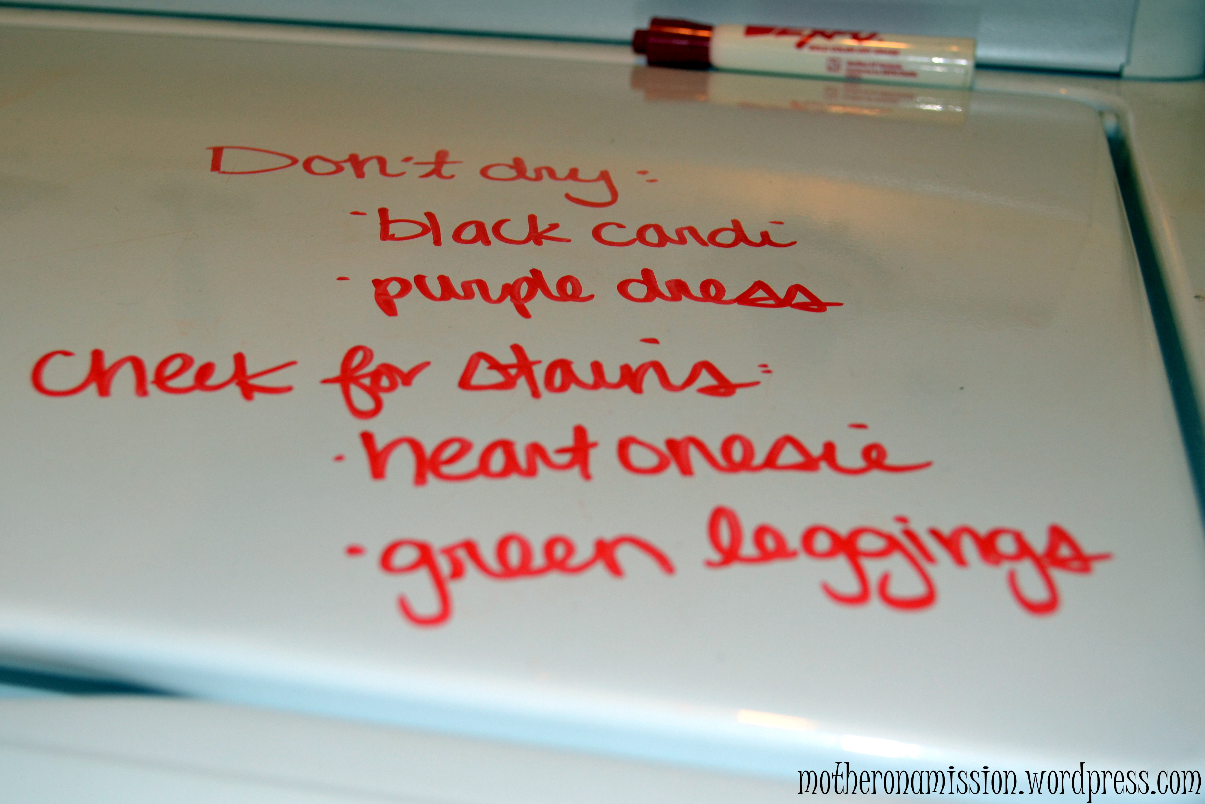 how a dry erase marker saves my laundry and my sanity mother on