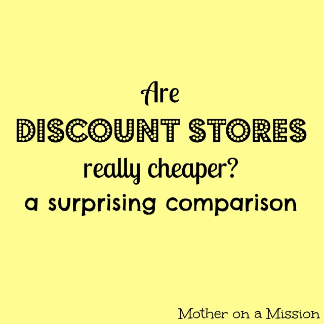 Are discount stores, like Dollar General, really cheaper? A surprising comparison.
