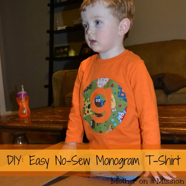 Easy No-Sew Monogram T-Shirt