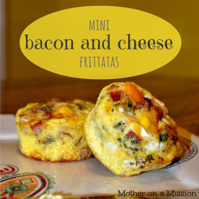 Mini Bacon and Cheese Frittatas