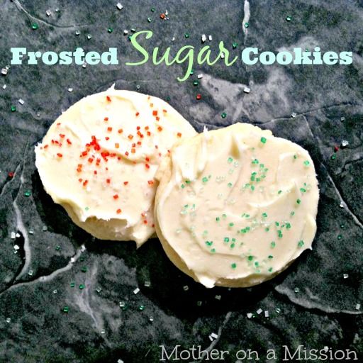 Frosted Sugar Cookies by Mother on a Mission