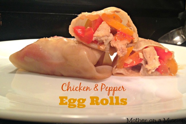 Baked Chicken & Pepper Egg Rolls