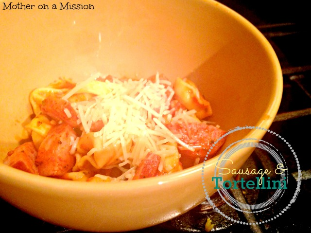 Sausage & Tortellini: a 20 minute one-pot meal that's flavorful and filling.