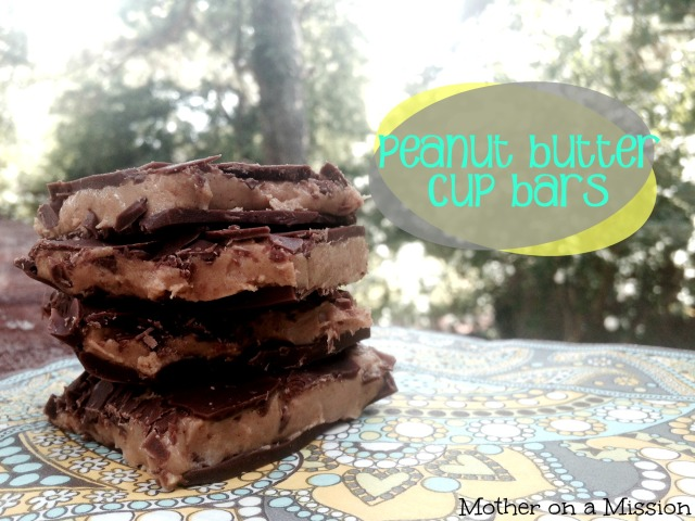 Homemade peanut butter cup bars. Fast, easy, and gluten free!